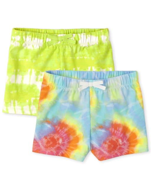 Pack de 2 pantalones cortos estampados para niñas