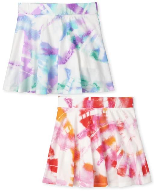 Pack de 2 falda pantalón estampada para niñas