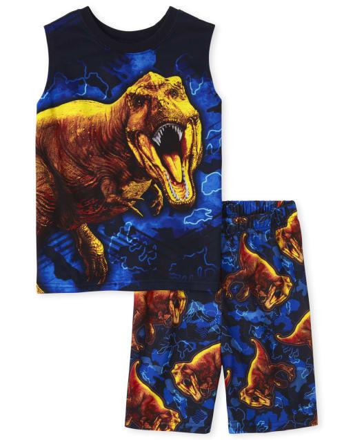 Boys Sleeveless Dino Pajamas