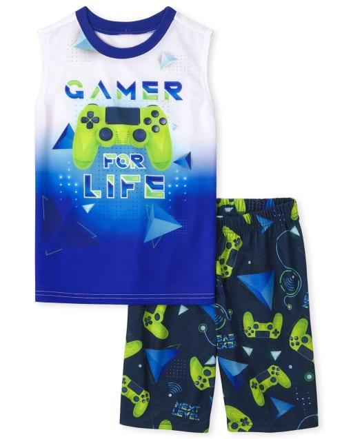 Boys Sleeveless 'Gamer Life' Video Game Pajamas