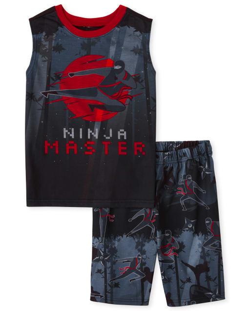 Boys Sleeveless 'Ninja Master' Pajamas