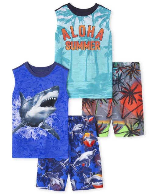 Pack de 2 pijamas sin mangas para ' Aloha Summer '