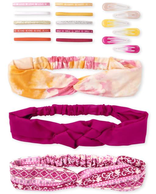 Conjunto de pelo de 18 piezas para niñas