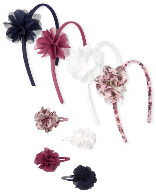 Conjunto de pelo de 8 piezas con flores para niñas