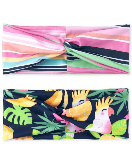 Toddler Girls Print Turban Headwrap 2-Pack