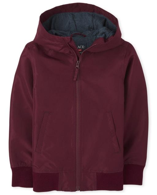 Boys Uniform Long Sleeve Windbreaker Jacket