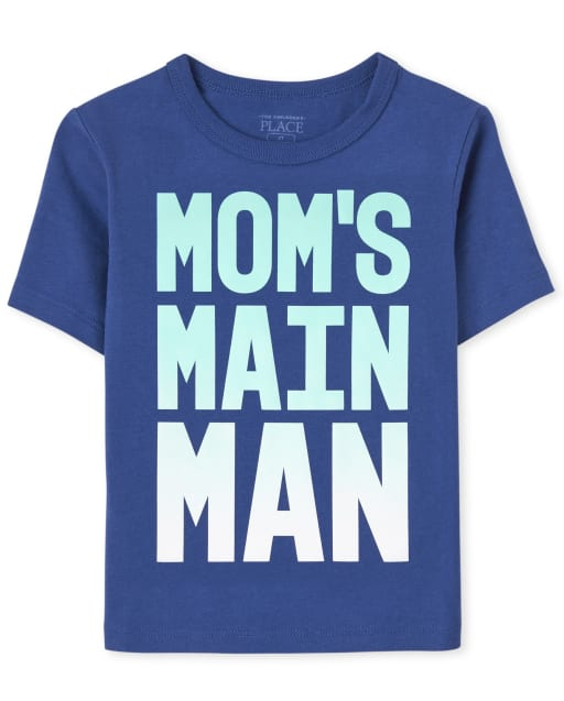 Baby And Toddler Boys Short Sleeve Mom's Main Man Graphic Tee