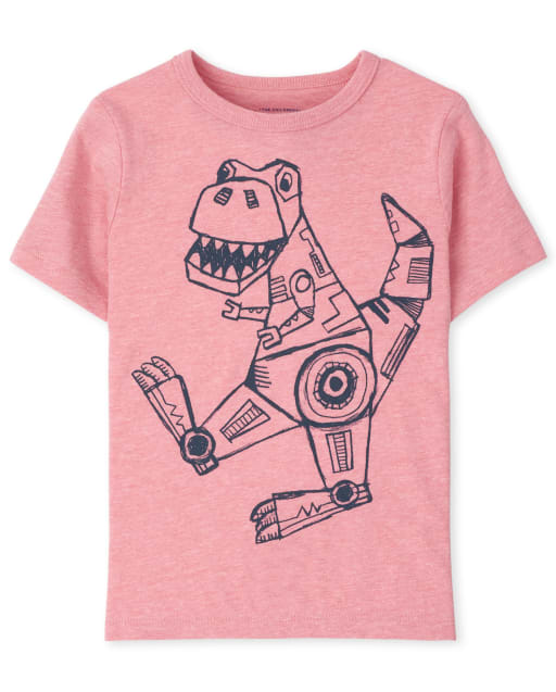 Baby And Toddler Boys Short Sleeve Robot Dino Graphic Tee