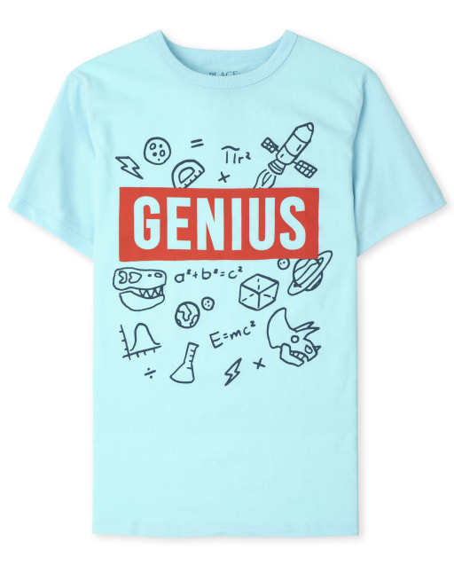 Boys Short Sleeve 'Genius' Graphic Tee