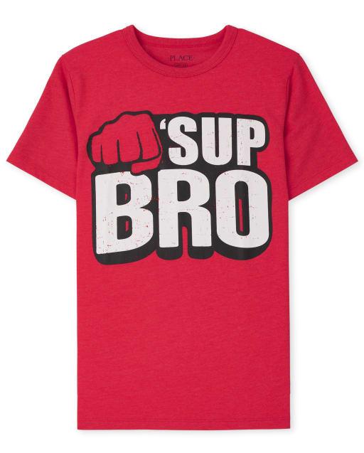 Boys Short Sleeve 'Sup Bro' Graphic Tee