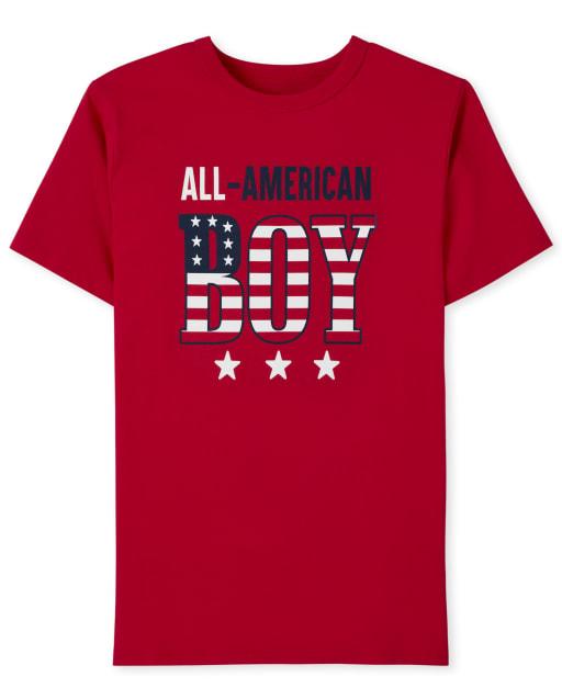 Boys Matching Family Short Sleeve Americana All American Boy Graphic Tee