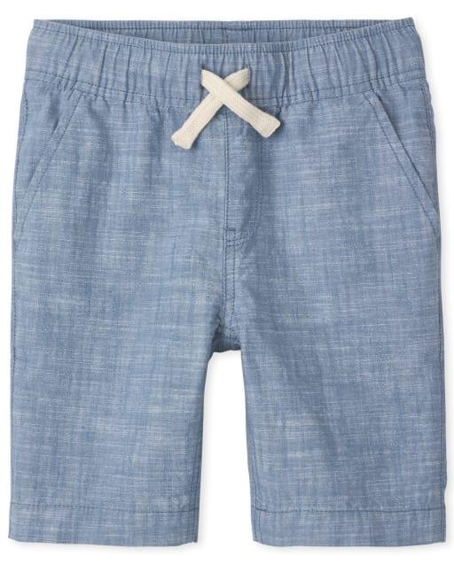 Shorts de chándal de cambray sin tirantes para niños
