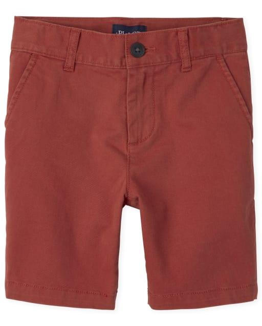 Shorts chinos de tejido elástico para niños