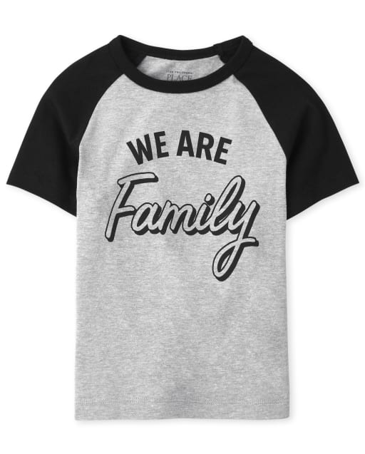 Unisex Baby And Toddler Matching Family Short Sleeve 'We Are Family' Graphic Tee