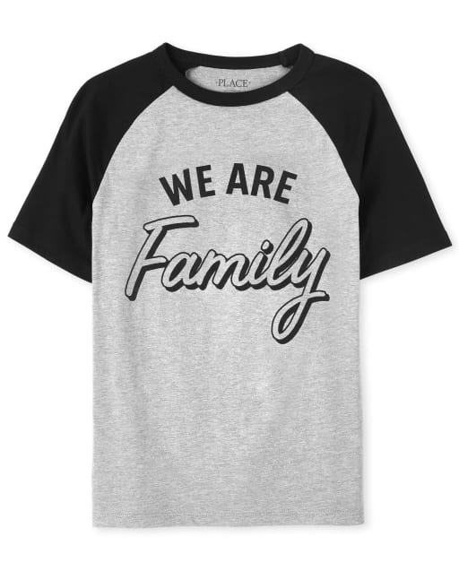 Unisex Kids Matching Family Short Sleeve 'We Are Family' Graphic Tee