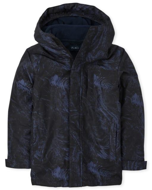 Boys Long Sleeve Print 3 In 1 Jacket