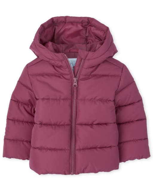Toddler Girls Long Sleeve Puffer Jacket