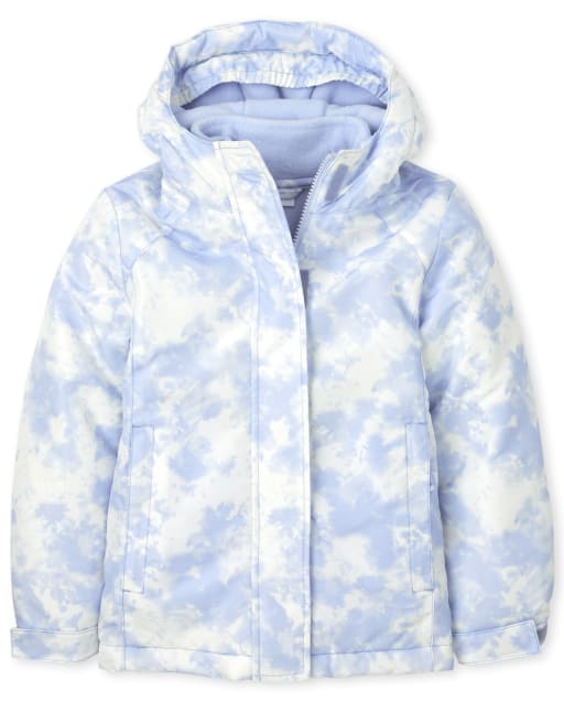 Girls Long Sleeve Print 3 In 1 Jacket