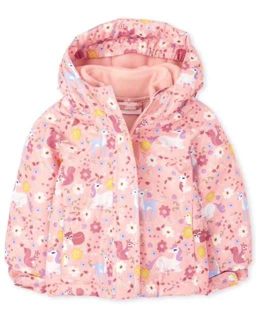 Toddler Girls Long Sleeve Print 3 In 1 Jacket