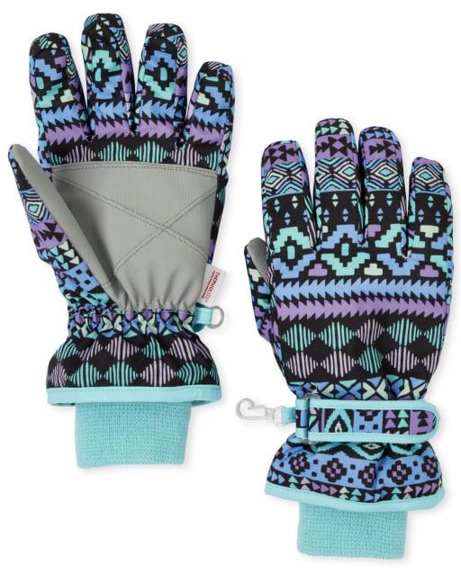 Girls Print Ski Gloves