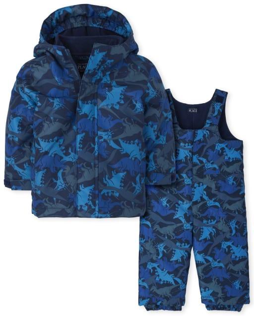 Toddler Boys Long Sleeve Print 3 In 1 Jacket Set