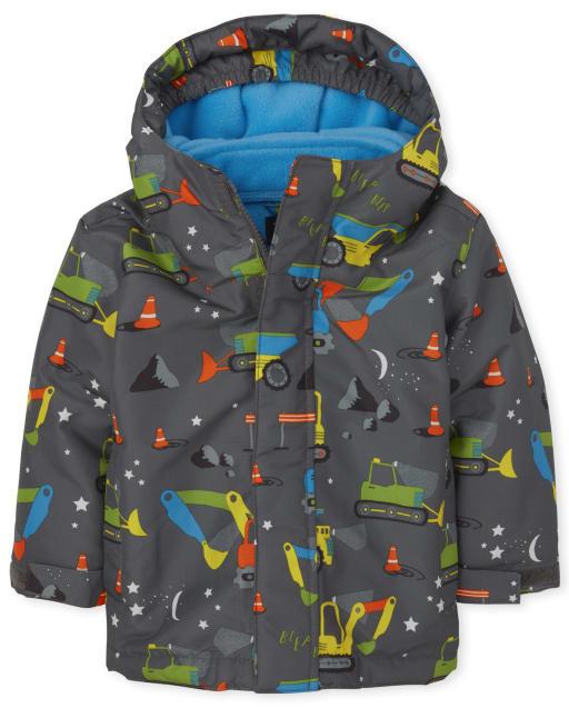 Toddler Boys Long Sleeve Print 3 In 1 Jacket