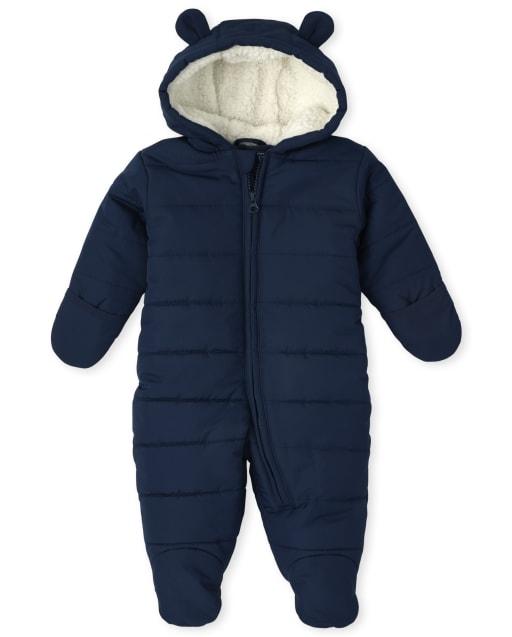 Baby Boys Long Sleeve Snowsuit