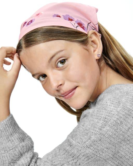 Girls Floral Bandana Headwrap