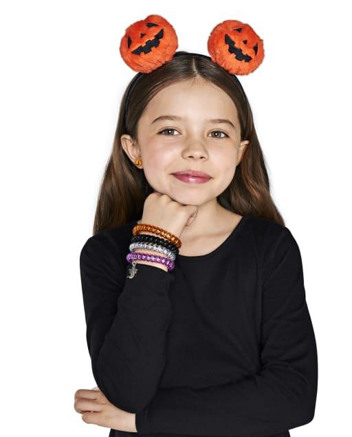 Girls Halloween Pumpkin Headband