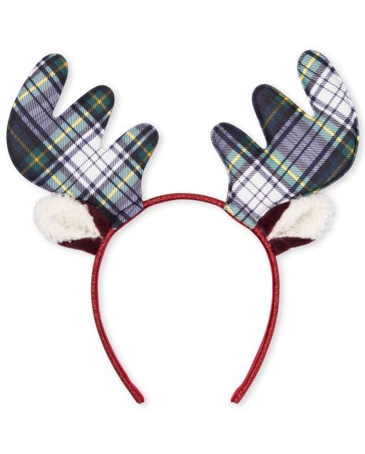 Girls Christmas Moose Headband