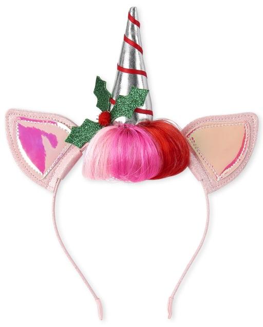 Girls Christmas Unicorn Headband