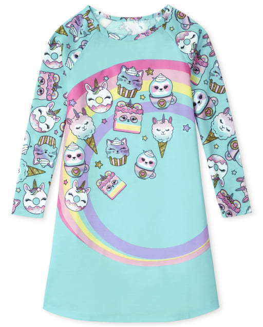 Girls Long Sleeve Squishies Nightgown