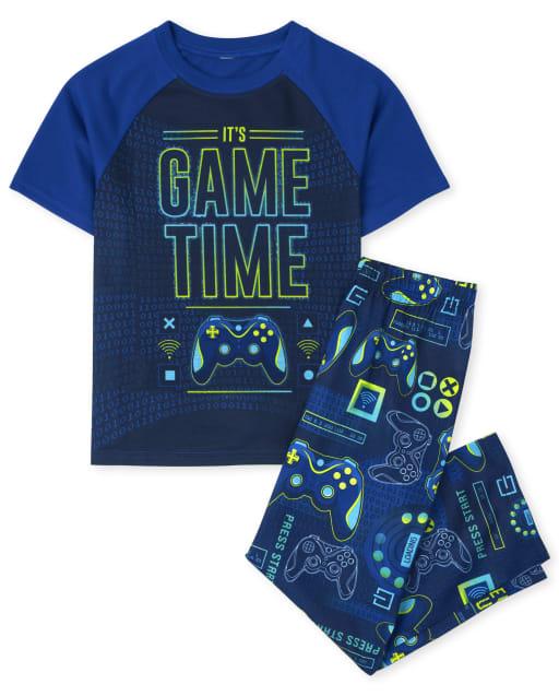 Pijama de manga corta para niños ' It ' s Game Time '