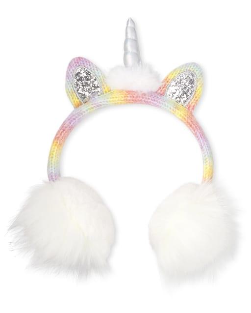 Girls Unicorn Ear Muffs