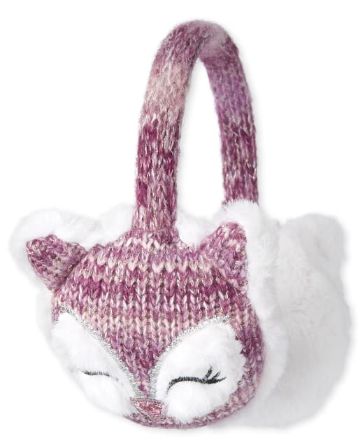 Girls Owl Ear Muffs