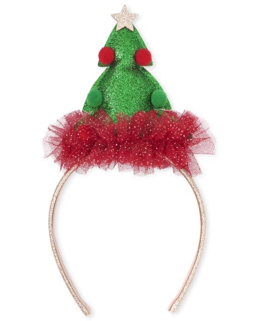 Girls Christmas Tree Headband