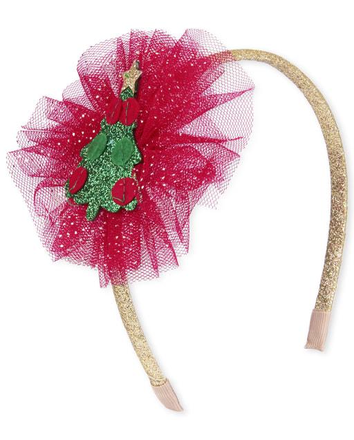 Toddler Girls Christmas Tree Headband