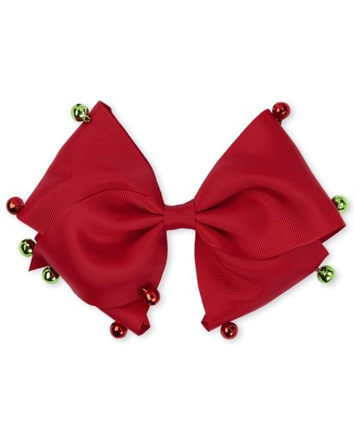 Girls Christmas Jingle Bell Bow Headband