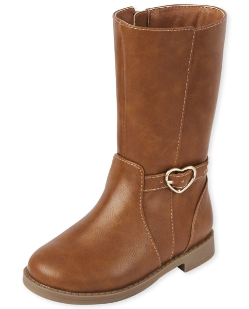 Toddler Girls Heart Buckle Tall Boots