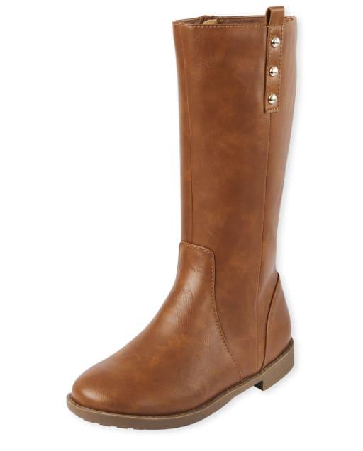 Girls Studded Tall Boots