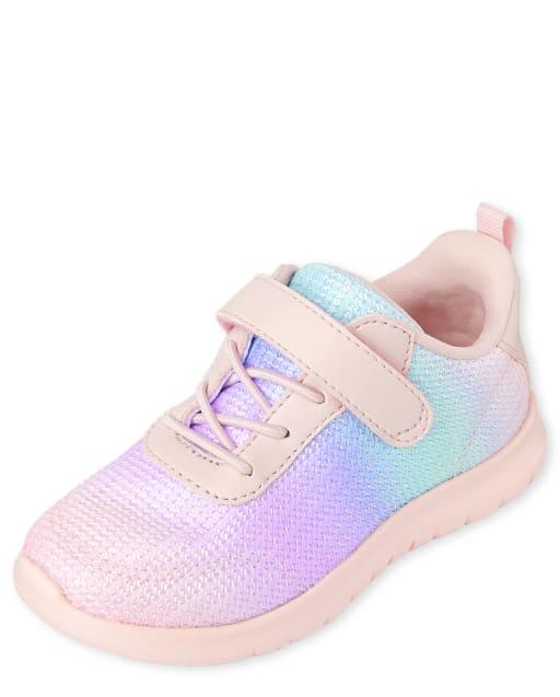 Zapatillas para correr arcoíris para niñas pequeñas