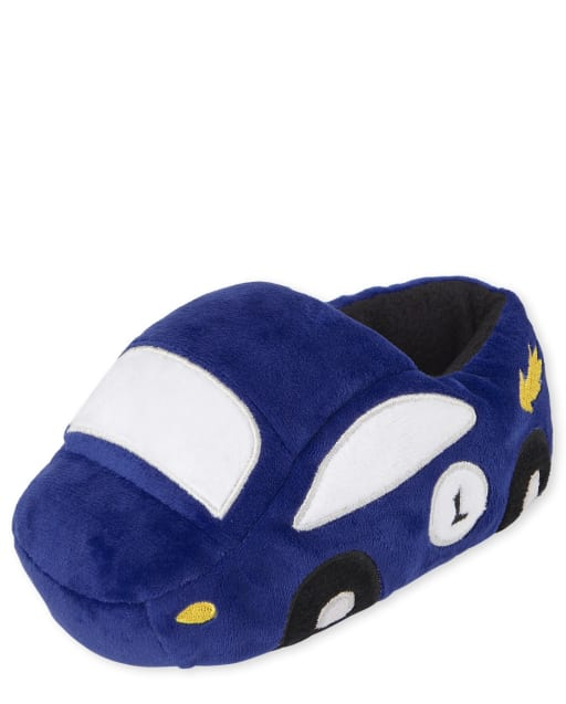 Toddler Boy Race Car Slippers