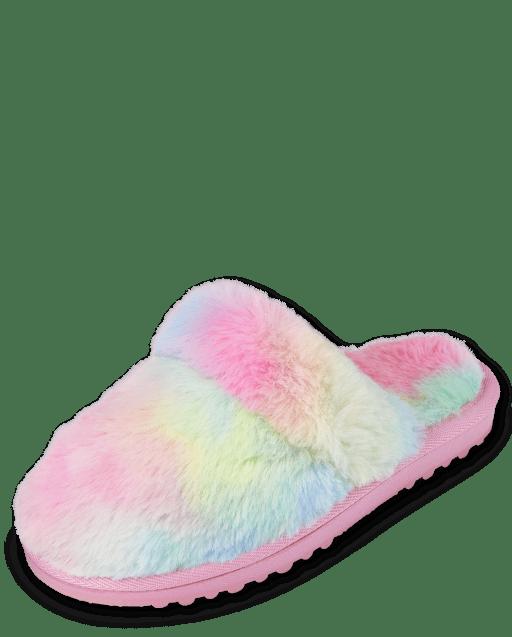 Girls Tie Dye Slippers