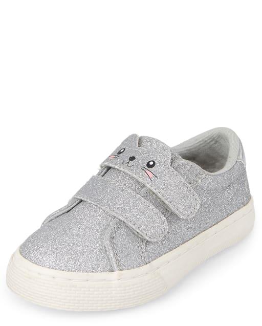 Toddler Girls Glitter Cat Low Top Sneakers