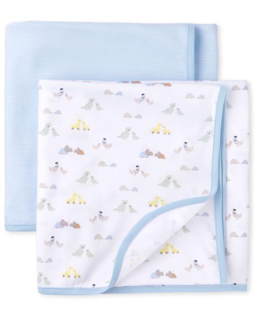 Baby Boys Transportation Swaddle Blanket 2-Pack