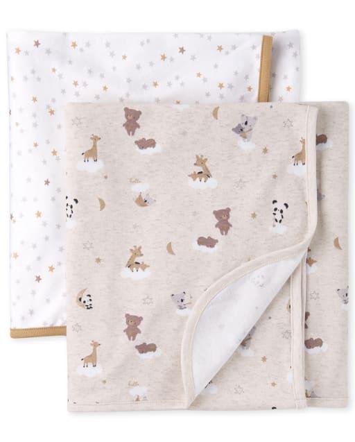 Unisex Baby Bear Swaddle Blanket 2-Pack