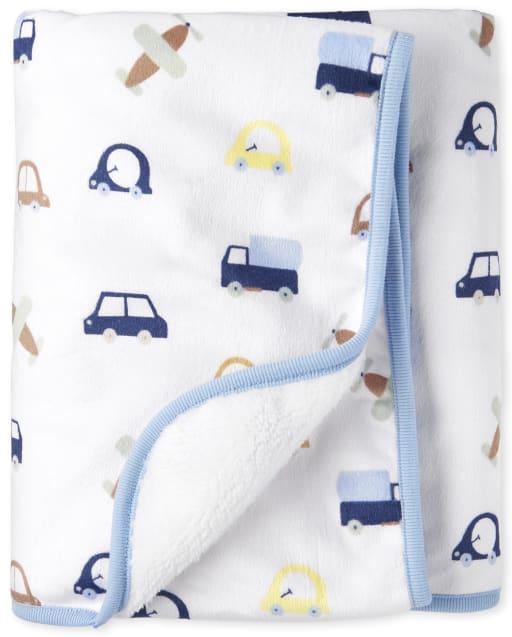 Baby Boys Transportation Print Cozy Blanket