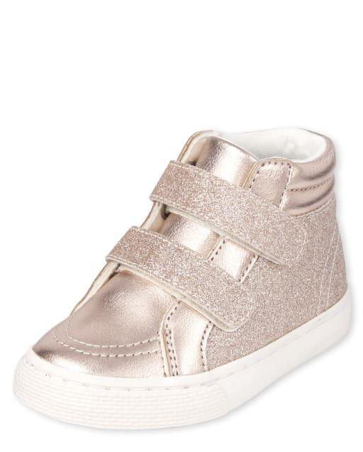 Toddler Girls Glitter Hi Top Sneakers