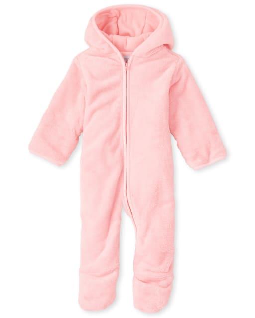 Baby Girls Long Sleeve Faux Fur Bunting