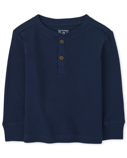 Baby And Toddler Boys Long Sleeve Thermal Henley Top